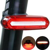 4 Modes LED Tail Lamp Bike Bicycle Cycling USB Rechargeable Front Rear Light