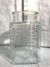 Koeze Apothecary Candy Cookie Jar Canister glass VTG vintage