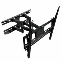 FULL MOTION TILT DUAL ARM LCD LED TV WALL MOUNT BRACKET 32 40 42 43 47 50 55 60
