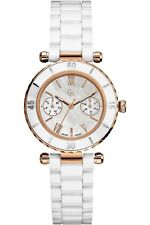 New Authentic Guess Collection Women's White Ceramic Bracelet Watch, G42004L1
