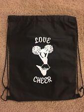 **NEW**   Cheerleading Cheer Black BackPack  Back Pack Bag