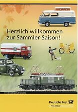 0002DP Deutsche Post Prospekt Modellauto Mercedes L311 VW 1500  Ford 12M