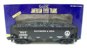 American Flyer 6-48620 S Scale Baltimore & Ohio Covered Hopper With Coal Load