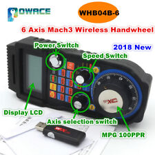 6 Axis MACH3 XHC MPG Wireless Handwheel Manual USB Receiver 40 Meters WHB04B