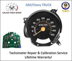 Tachometer REPAIR & CALIBRATION SERVICE - GM/Chevy Trucks, C2500, K30, C30, C10