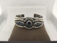 Southwestern Cuff Bracelet Sterling Silver with Unobtainium 265-A