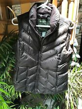 Eddie Bauer Premium Goose Down Brown Women's Small S Puffer Vest Jacket