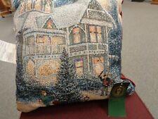 Thomas Kinkade Victorian Christmas pillow