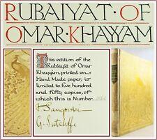 1910*RUBAIYAT OF OMAR KHAYYAM*SANGORSKI & SUTCLIFFE*SIGNED*FINE VELLUM BINDING*