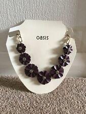 Oasis Plum 6 Piece Flower Necklace - Never Worn
