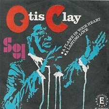 """OTIS CLAY 7""""PS Spain 1968 A flame in your heart"""
