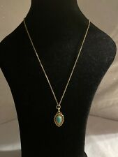 "lucky brand necklace turquoise Tone 24"" Long"