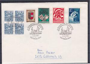 Reco Express Brief mit TOP Frankatur u.A. Kärntner Volksabstimmung 1950