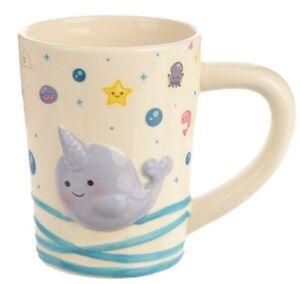 Narwhal Whale Sea life Ceramic Mug Narwaii & Friends Kids Children