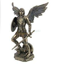St. Michael Archangel Standing On Demon w/Sword & Shield Statue Sculpture Figure
