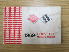 1969 Corvette Factory GM Original Owners Manual W/ 1/2 Corvette News Card, Nice