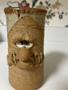Art Pottery Our Gang Pottery Ugly Face Stoneware Coffee Mug