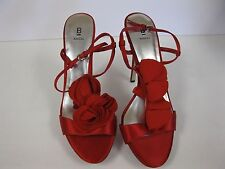 BAKERS Women's Shoes Heels Size 10 Red Satin w/ pedals