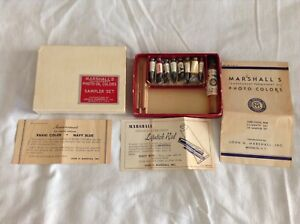 Collectible Vintage Marshall's Transparent Photo Oil Colors Sampler Set Complete