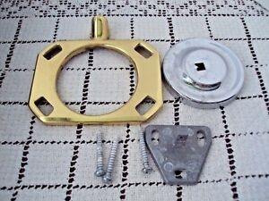 """Toothbrush Holder Brass 4"""" Across Cup Holder Wall Mount Hardware Included Used"""