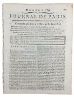 USA Généraux Juni 1789 Reunion von Der Noblesse Clermont Thunder Virieu Blache