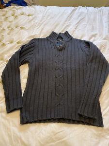 Crosshatch Mens Grey Knit Pullover Jumper Size M