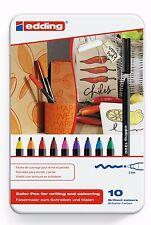 Edding 1300 Felt Tip High Quality Colouring Pens, Assorted Set of 10