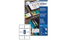 Avery Visitenkarten Etiketten weiß glänzend 85x54 200 Stück beidseitig Drucker