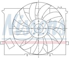 Engine Cooling Fan Assembly-R50 Front Nissens 85125 fits 03-05 Mini Cooper