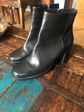 Leather Black Boots Cos Suede 41 8 Rrp £159