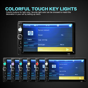 7010B 7inch Car Radio Bluetooth V2.0 Car Stereo HD Touch Screen MP5 Player