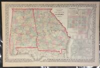 "Mitchell: ""County Map of the States of GA and AL"" 1874"