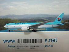 1:500 Aero 500 AeroClassics korean air b777-200 hl7734 & Herpa Wings catálogo