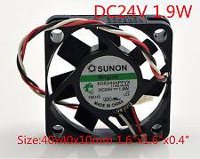 "SUNON Cooling Fan KDE2404PFVX 24V 1.9W 4010 4CM 3Pin 40x40x 10mm 1.6""x1.6""x0.4"""