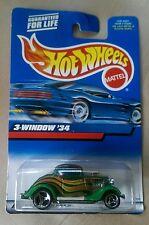 2000 Hot Wheels #132/250  3-Window '34 GREEN