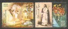 PHILA-2700a INDIA 2011 RABINDRA NATH TAGORE 150 Yrs SET OF 2 STAMPS MINT MNH