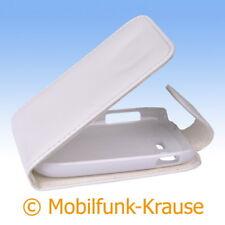 Flip Case Etui Handytasche Tasche Hülle f. Samsung Galaxy Pocket Neo Duos (Weiß)