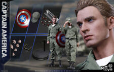 1/6 Captain America Steve Rogers Endgame Figure USA Toys Hot Avengers Peggy