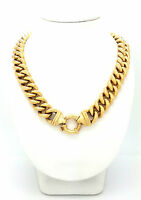 Ladies Chain 9ct 375 9K Yellow Gold Extra Large Curb Chain Necklace Bolt Lock