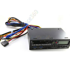 5.25 Inch USB3.0 Media Dashboard Front Panel Card Reader HUB SATA Black