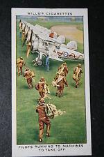 Gloster Gauntlet  RAF Fighter Squadron Scramble    1930's Vintage Card VGC