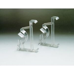 """OEM Original LEVOLOR Faux Wood Blind Clear Valance Clips Pair 2"""" Fast Shipping"""