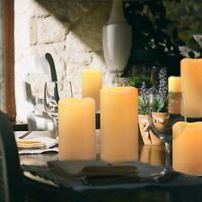 3pcs Set Ivory Flameless LED Plastic Flikcer Pillar Led Candle Wedding XMAS