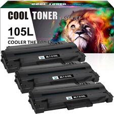 3PK MLT-D105L Black Toner Cartridge for Samsung 105L ML-1910 ML-2525 SCX-4623F