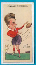 JOHN PLAYER 1927 CARICATURES BY MAC W.C.POWELL RUGBY Cigarette Card # 45 of 50