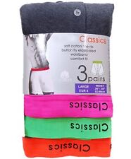 6 Pairs Gents Fitted Poly Cotton Boxers Boxer Shorts With Neon Waist Band S-2XL
