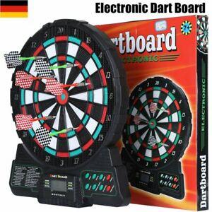 6Pfeile Profi Elektrische Dartscheibe Dartboard 159 Spiele Elektronisch Darts