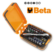 BETA TOOLS 860/C27 25 bits,1 connector and 1 reversible ratchet in plastic case