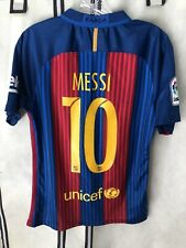 Barcelona 2016-17 Nike Soccer Jersey Messi Small
