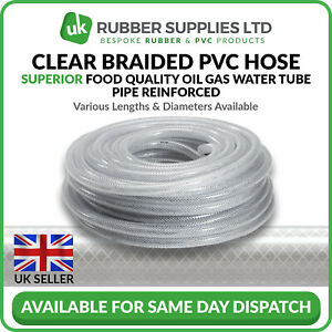 Clear Braided PVC Hose Superior Food Quality Oil Gas Water Tube Pipe Reinforced